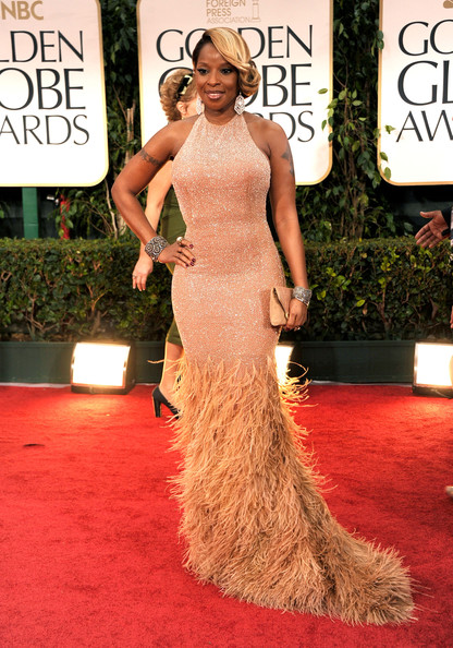 Mary J. styling in a lovely dress